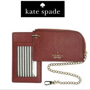 NWT Kate Spade Cameron Street Ivey Card Case Key